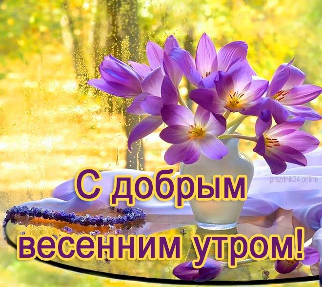 с добрым весенним утром