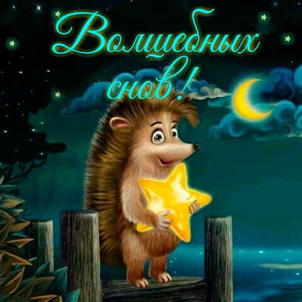 волшебных снов спокойной ночи