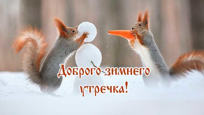 Доброго зимнего утречка прикольная картинка