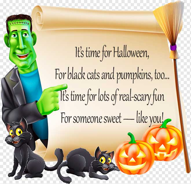 картинка на английском на Хеллоуин